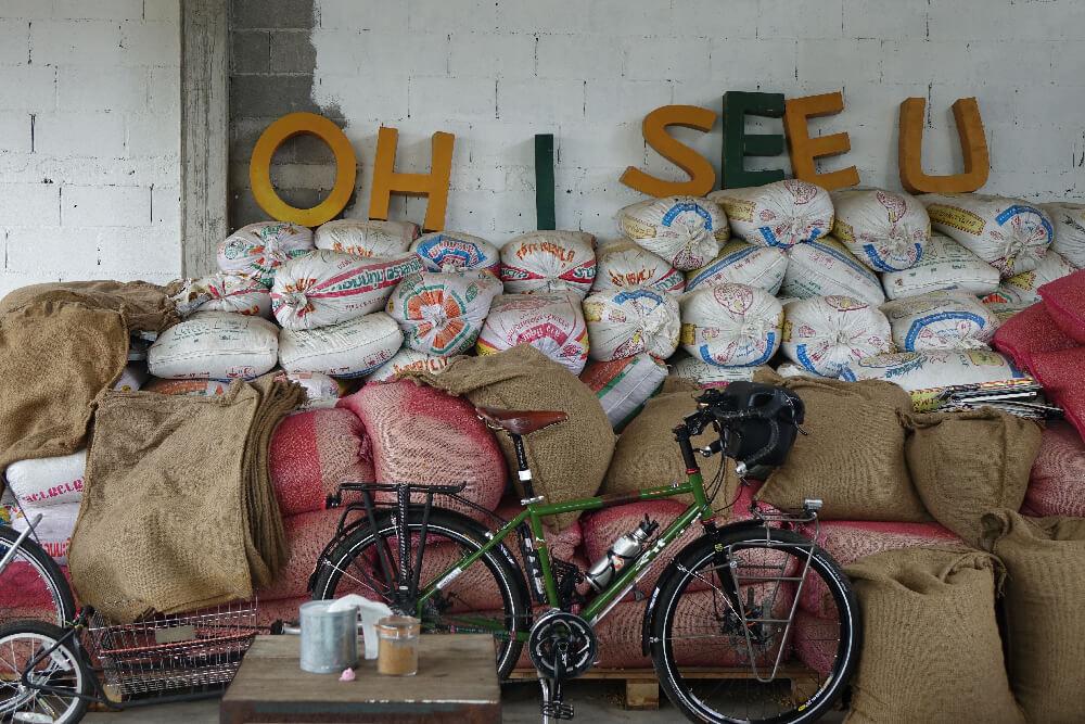 Khaotha Berge mit frischen Kaffeebohnen