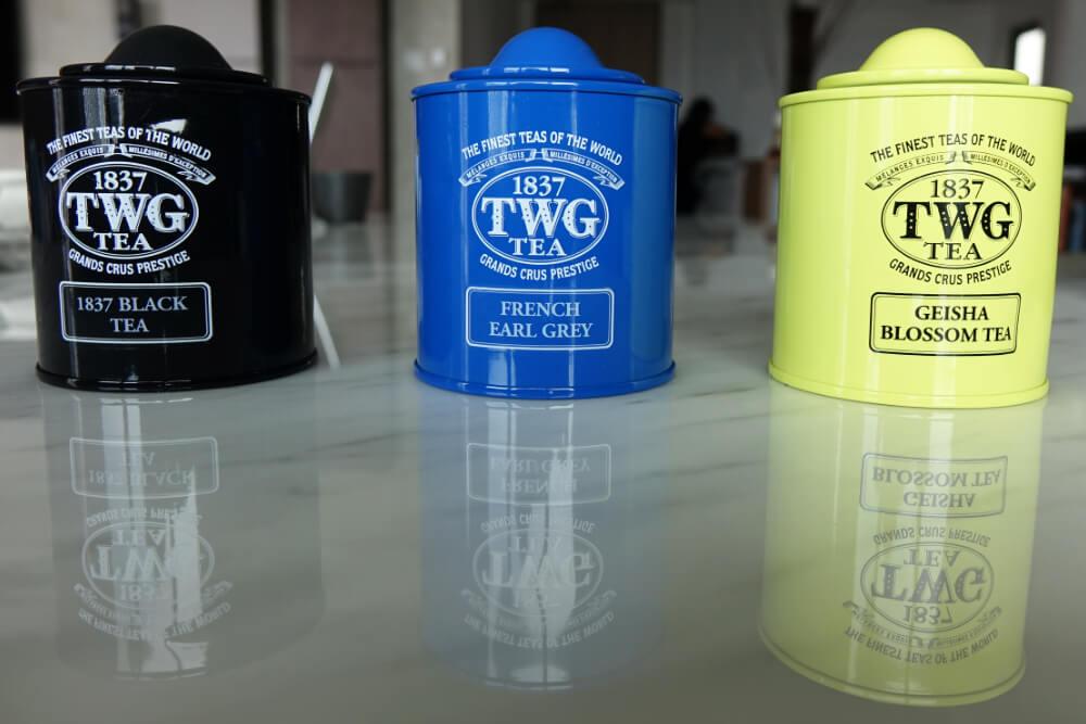 TWG Tee Set: wir trinken gerne Kokosoel zum Tee