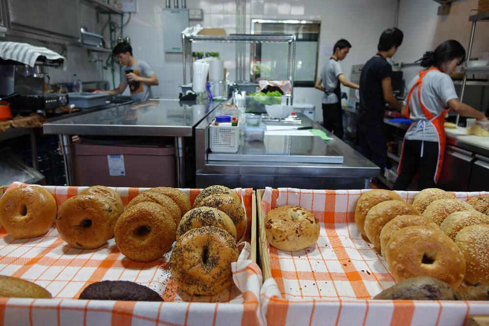 BKK Bagel Bakery Bagel Auswahl