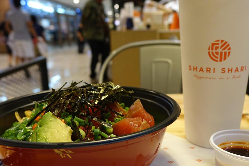 Shari Shari Bangkok Poke und Gruener Tee