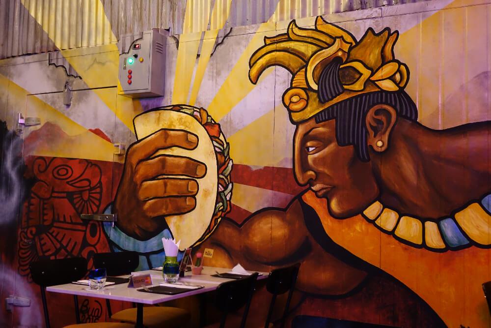Slanted Taco Bangkok Wallart