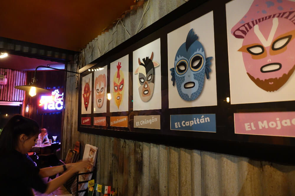 Slanted Taco Bangkok Dekoration