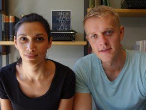 Die Gruender von KOPFSACHE: Jamila und Henning (v.l.)
